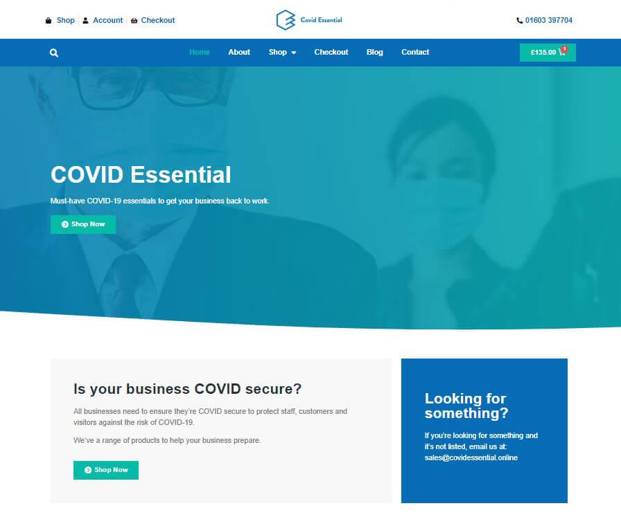 Covid Essential Homepage